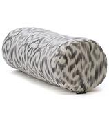 Halfmoon Cylindrical Bolster Charcoal Ikat