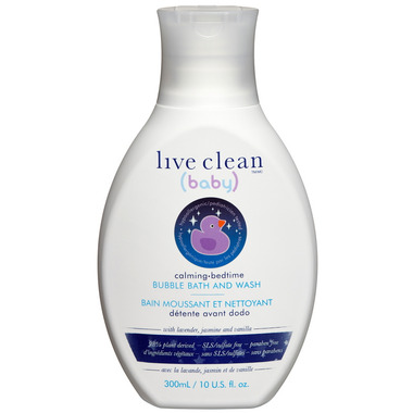 Live Clean Baby Calming Bedtime Bubble Bath & Wash