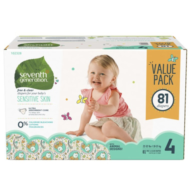 Seventh Generation Baby Free & Clear Diaper Mega Pack
