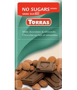 Torras No Sugar Added Milk Chocolate & Almonds