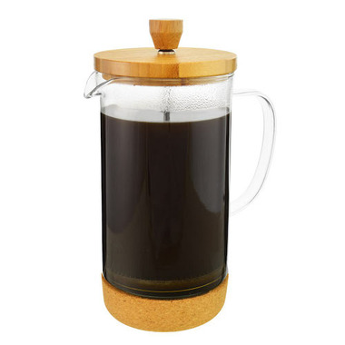 GROSCHE Melbourn Bamboo Double Wall Glass French Press