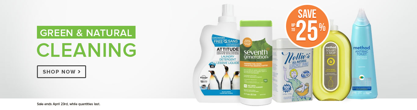 Save up to 25% on Green Cleaning