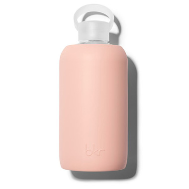 bkr Bellini Glass Water Bottle Opaque Peach
