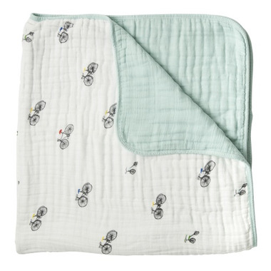 Little Unicorn Cotton Muslin Quilt Bike Family