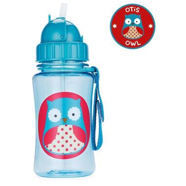 Skip Hop Zoo Straw Bottle Owl