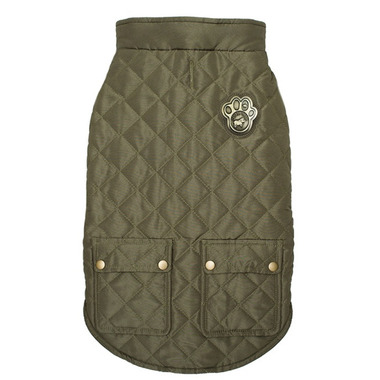 Canada Pooch Cityscape Coat Green Sizes 20-26