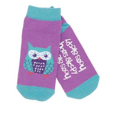 Little Blue House Women\'s Ankle Socks Hoo\'s Sleepy