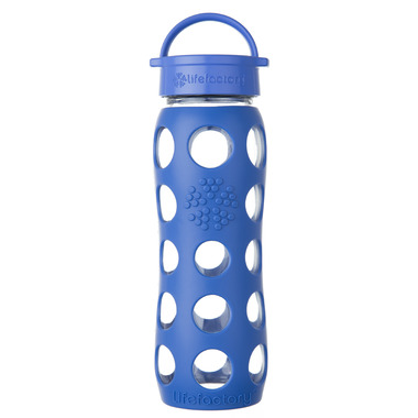 Lifefactory Glass Bottle Cobalt Classic Cap & Silicone Sleeve