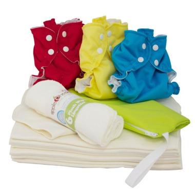 AppleCheeks Bamboo Cloth Diaper Starter Kit