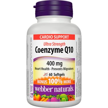 Webber Naturals Coenzyme Q10, Ultra Strength, 400 mg