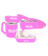 Thinkbaby Complete BPA Free Feeding Set Pink