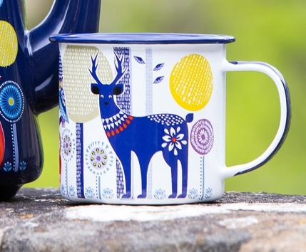 Buy Folklore Enamel Mug Day At Well Ca Free Shipping 35