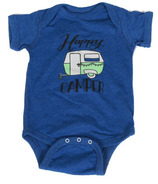 Little Orchard Co. Happy Camper Onesie Blue