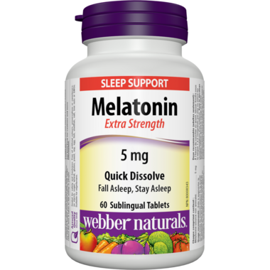 Webber Naturals Melatonin Easy Dissolve Tablets