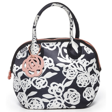 Built Downtown Lunch Tote Garden Rose Black & White