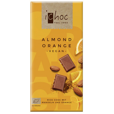 Ichoc Almond Orange Chocolate Bar