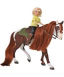 Breyer Horses Spirit Riding Free Boomerang and Abigail Gift Set