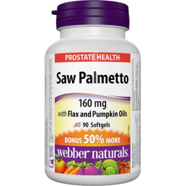 Webber Naturals Saw Palmetto, 160mg