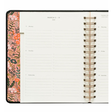 Rifle Paper Co. 2018 Floral Foil Covered Planner