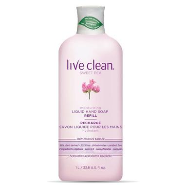 Live Clean Sweet Pea Moisturizing Liquid Hand Soap Refill
