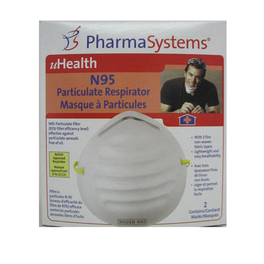 PharmaSystems N95 Particulate Respirator Dust Masks
