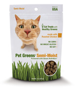 Pet Greens Semi-Moist Cat Treats with Roasted Chicken