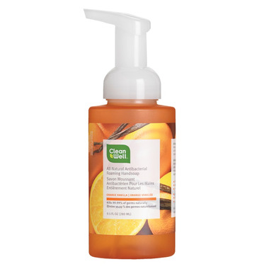 CleanWell All-Natural Antibacterial Foaming Hand Soap