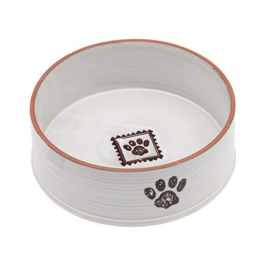 Ore Pet Handcraft Paw Large Ceramic Bowl