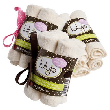 Lulujo Baby Organic Cotton Facecloths Cream