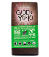 Giddy Yoyo Organic Raw Mint 76% Dark Chocolate Bar