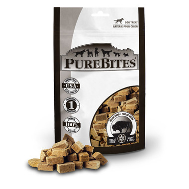 PureBites Freeze Dried Bison Liver Dog Treats