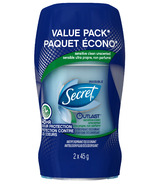 Secret Outlast Sensitive Clean Invisible Solid Antiperspirant Twin Pack