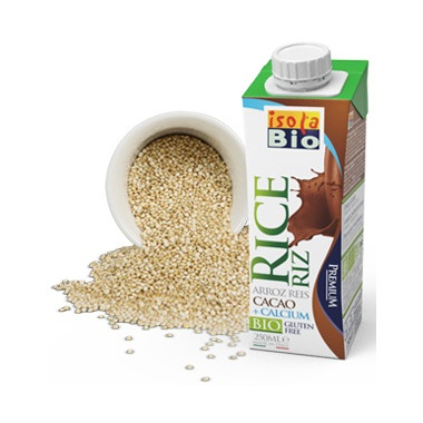 Isola Bio Cacao Rice Beverage + Calcium To Go