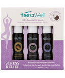 Therawell Essential Oil Blend 3 Pack Stress Relief Roll-On