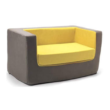 Monte Design Cubino Loveseat Charcoal & Yellow