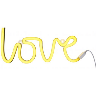 A Little Lovely Company Yellow Neon Light Love