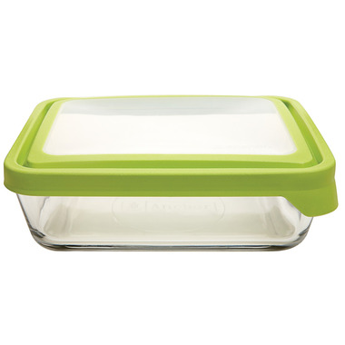 Anchor TrueSeal 11 Cup Rectangular Storage Container with Green Lid