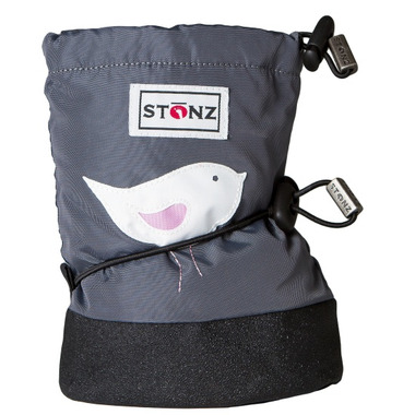 Stonz Grey Bird Infant Booties