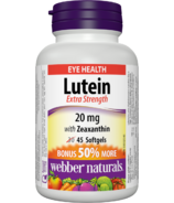 Webber Naturals with Zeaxanthin Extra Strength Bonus Size
