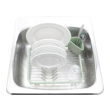 Umbra Sinkin Dish Rack Mint & Nickle