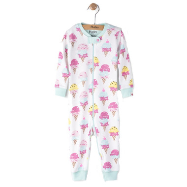 Hatley Footed Coverall Ice Cream Treats