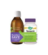 NutraSea Omega-3 Lemon & Nature's Way Turmeric Combo Pack