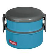 Russbe Round Snack Bento Box Blue
