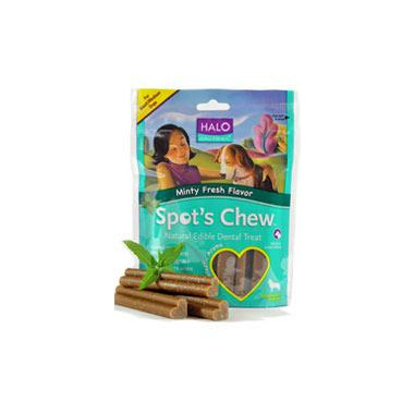 Halo Spot\'s Chew Minty Fresh Flavour Dog Dental Treats