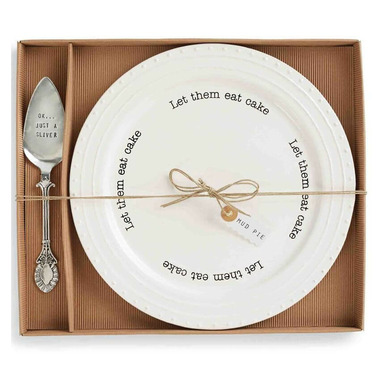 Mud Pie Cake Plate Set