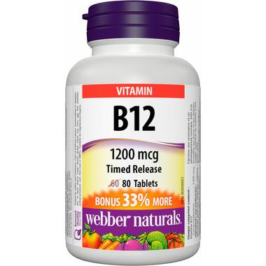Webber Naturals Vitamin B12 Time Release Tablets Bonus Size