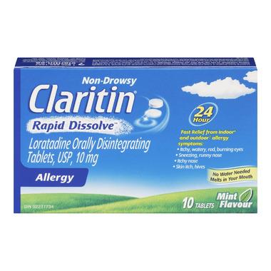 Claritin Non-Drowsy Allergy Rapid Dissolve