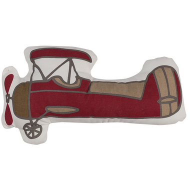 Lolli Living Vintage Aeroplane Shaped Pillow