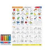 Melissa & Doug Alphabet Write- a- Mat with Crayons Bundle