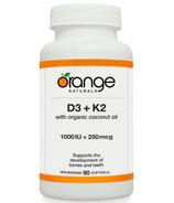 Orange Naturals D3 + K2 Softgels